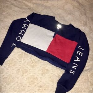 TOMMY JEANS CROPPED CREW NECK
